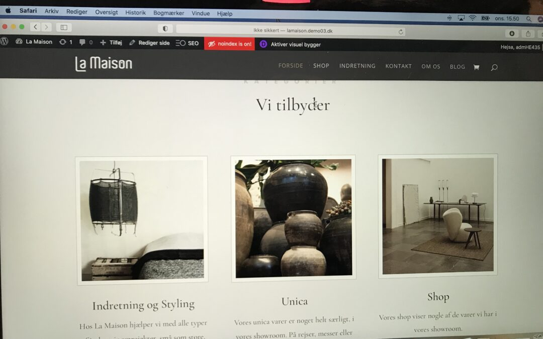HURRA – Ny hjemmeside
